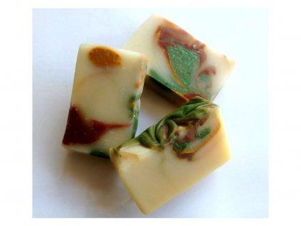 Caltha tuhé mýdlo Meduňka s chlorellou a spirulinou (bez obalu)