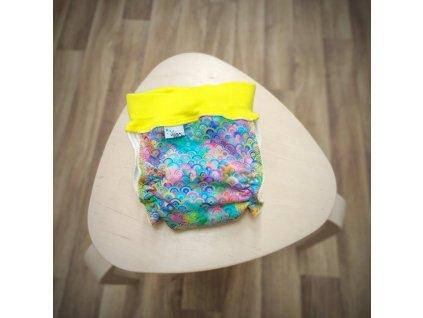 natahovaci kalhotkova plenka barevne vlnky m