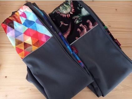 Abeli Softshellové kalhoty letní pružné vel. 134, Slim fit