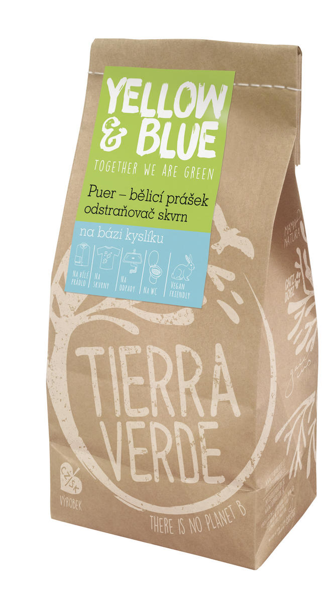 Tierra Verde Bělící prášek a odstraňovač skvrn PUER 1kg