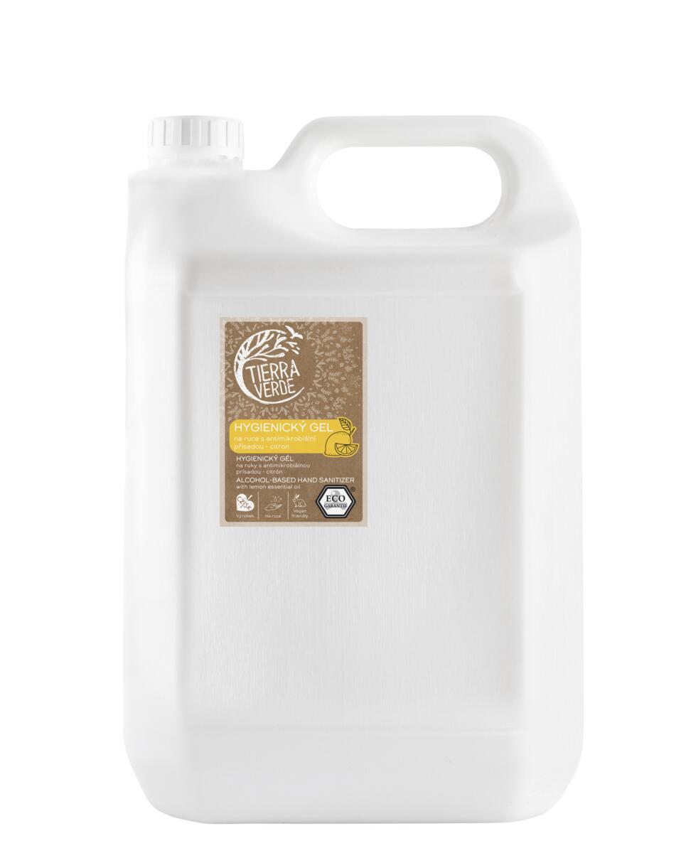 Tierra Verde Hygienický gel na ruce s antimikrobiální přísadou citron BEZ OBALU 1 kg