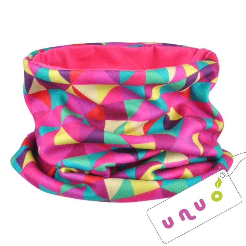 Unuo nákrčník UNI - fleece Triangl růžový