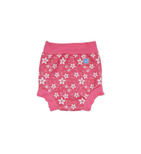Happy Nappy Plavky Růžové kytičky Velikost: M