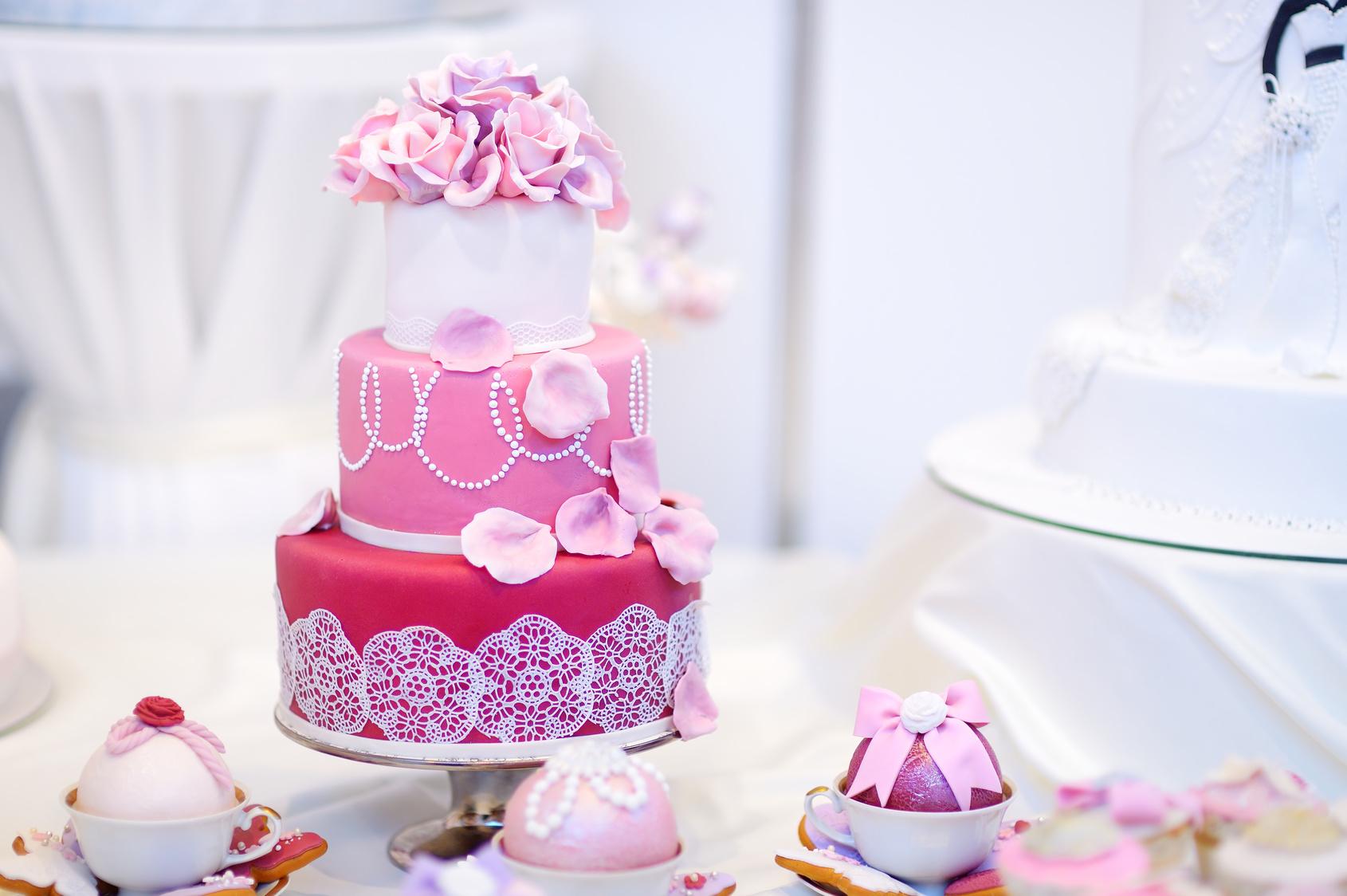 Růžový dort - nové foto