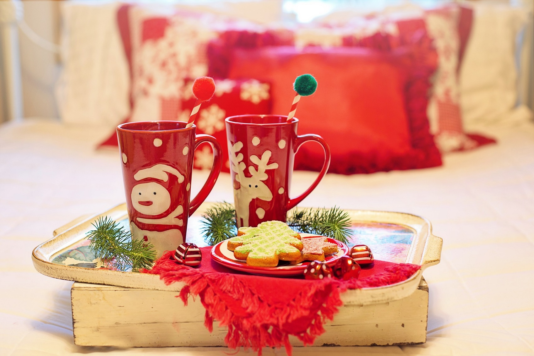 Cukroví s vánočními hrnky