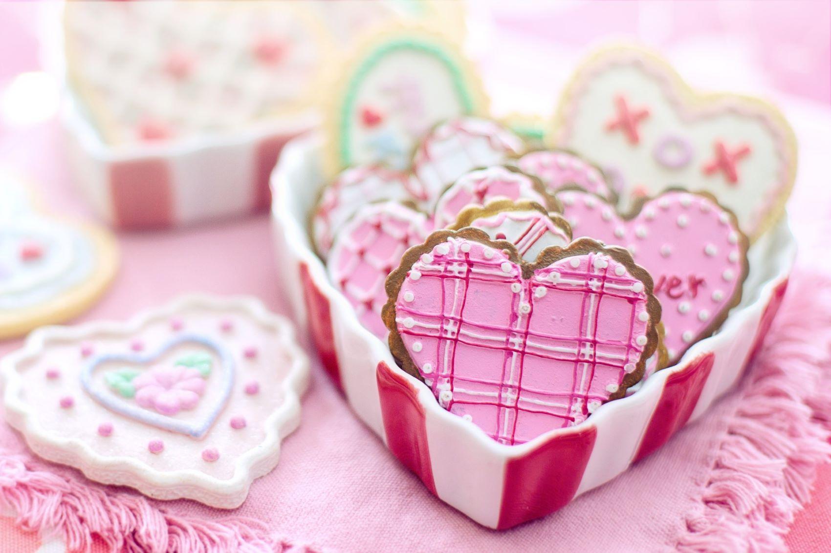Valentýn - zdobené perníčky srdce