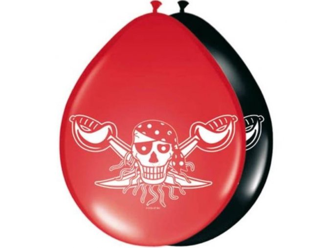 latex balonky red pirate