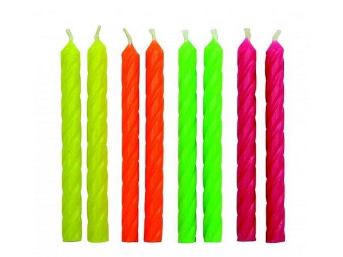 svíčky neon