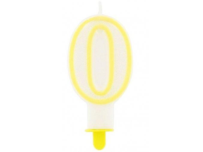 svíčka 0 žlutá