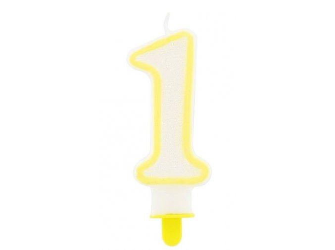 svíčka 1 žlutá