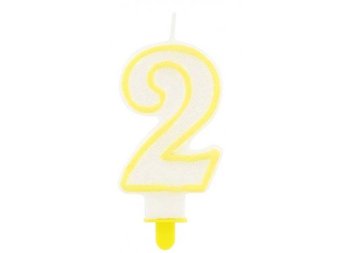 svíčka 2 žlutá