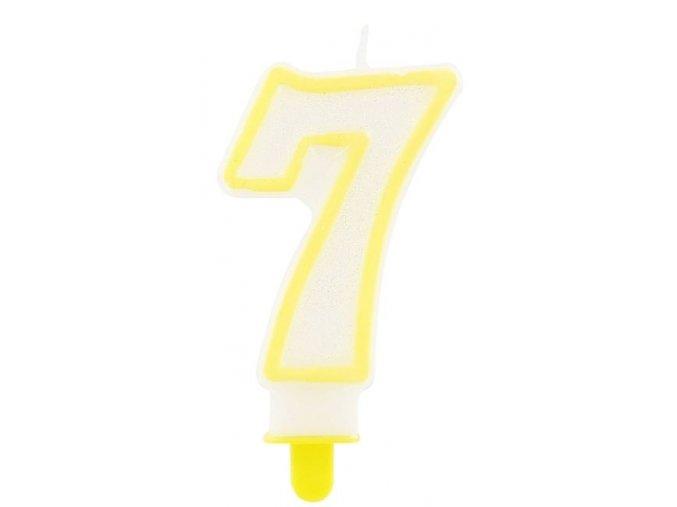 svíčka 7 žlutá