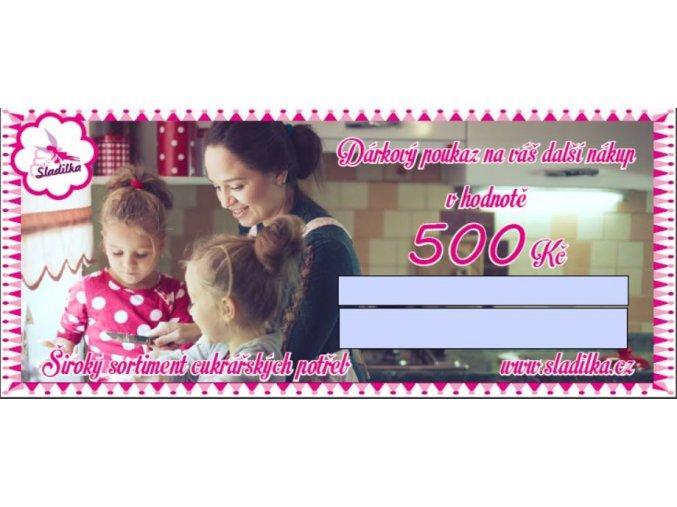 dárk. poukaz 500