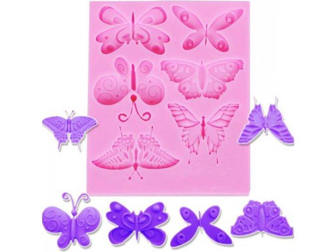 motýli silikon
