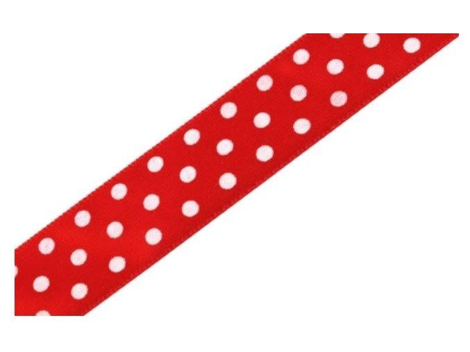 stuha červená s puntíky
