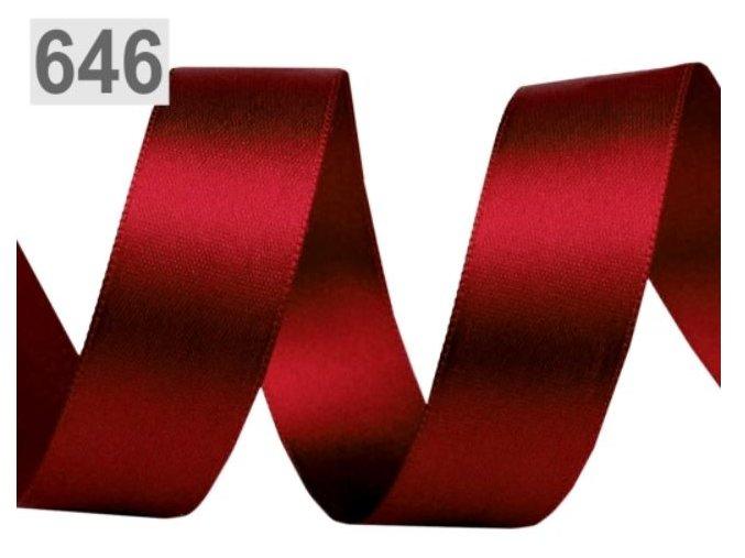 tmavěčervená stuha 646