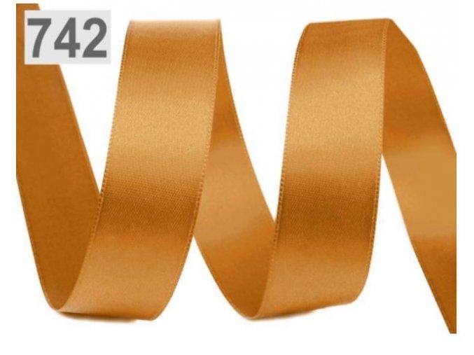 zlatohnědá stuha 742