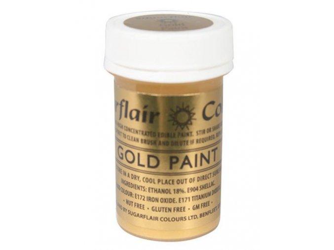 tekutá glitterová gold paint