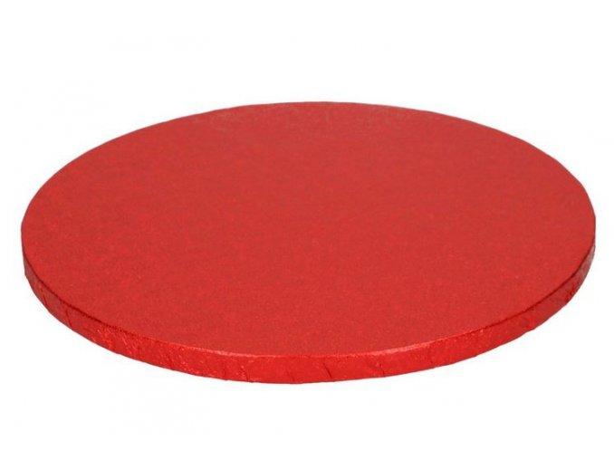 podložka kulatá červená