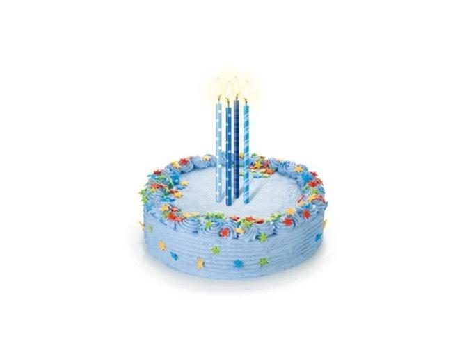 svíčky s puntíky modré2