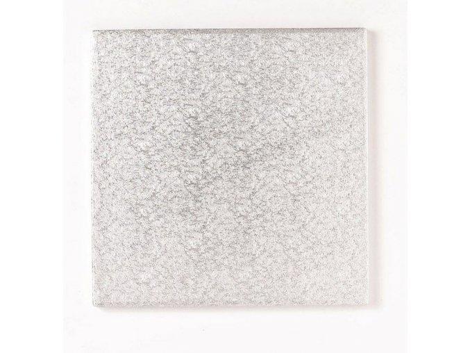 podložka pevný čtverec stříbr.