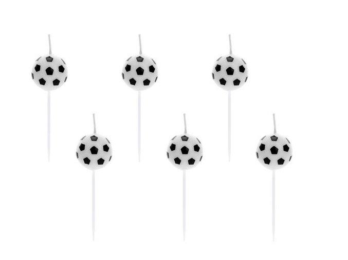 svíčky fotbal. míče party deco