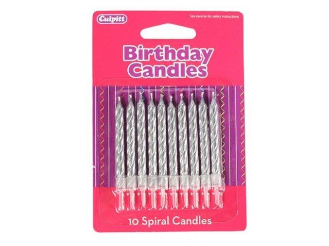 stříbrné svíčky