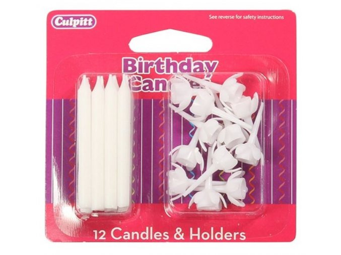 svíčky bílé culpitt