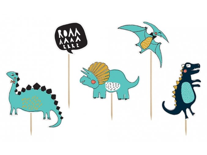 zapich. dekorace dinosauři