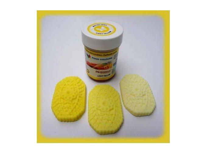 Barva gel. světle žlutá