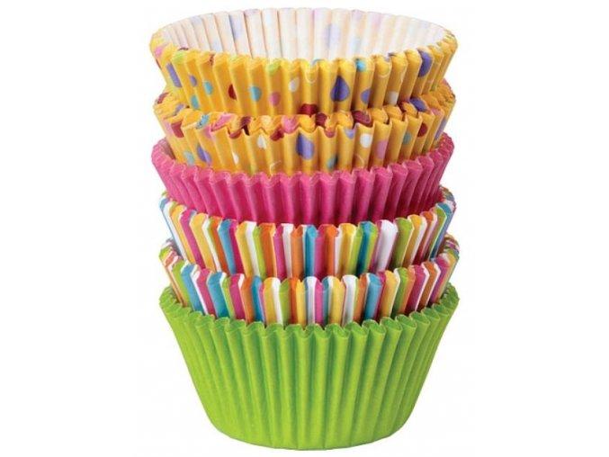 košíčky wilton barevné punt a pruhy
