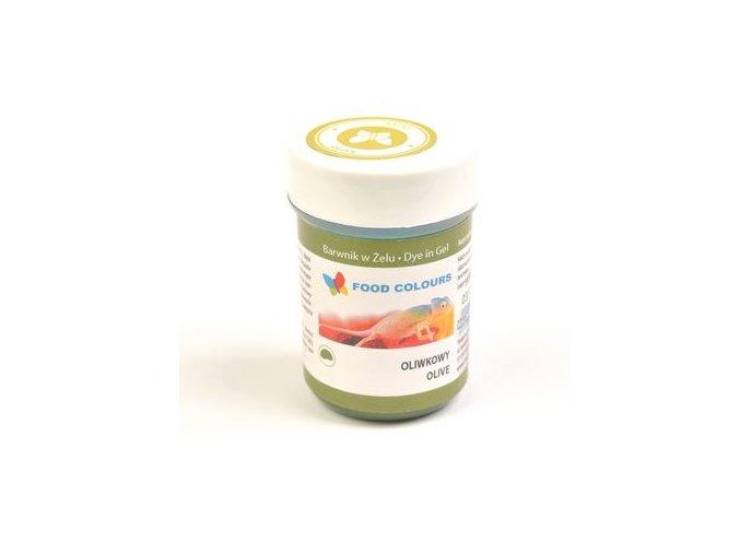 Barva gel oliva