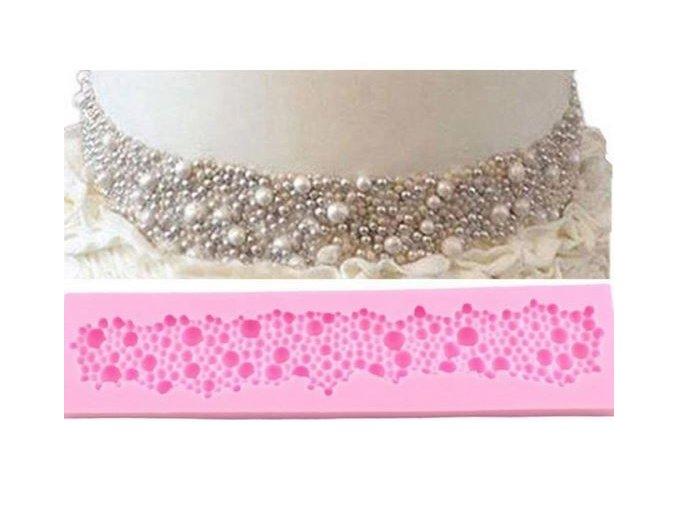 perlový náhrdelník silikon