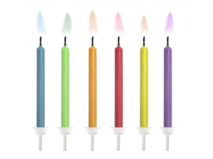 svíčky s barev. plamenem 6