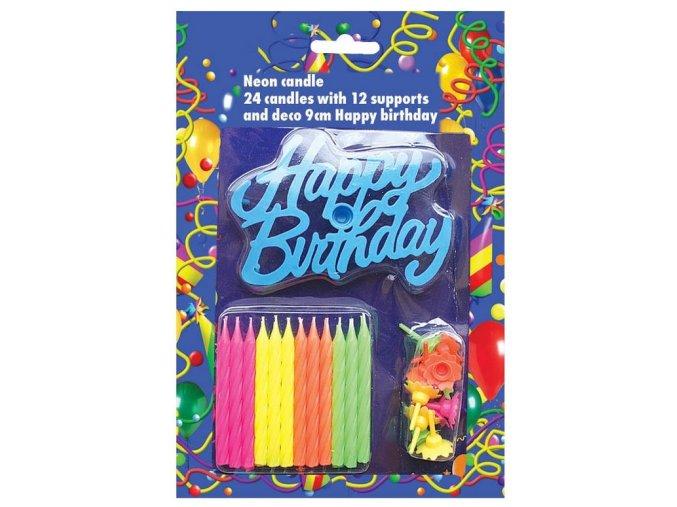 24 svíček s happy birth.