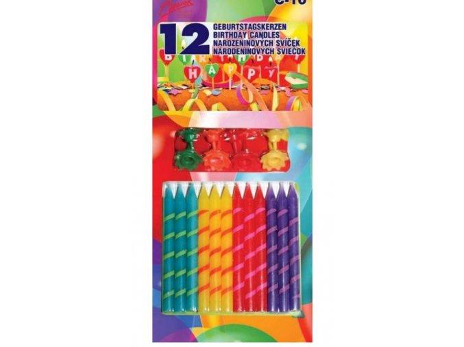 alvarak barevné svíčky se stojánky