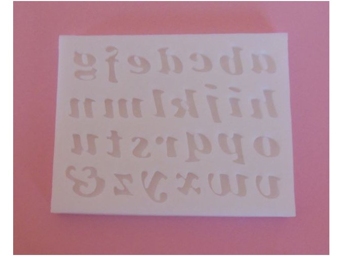 malá abeceda 0,8 1,2 cm