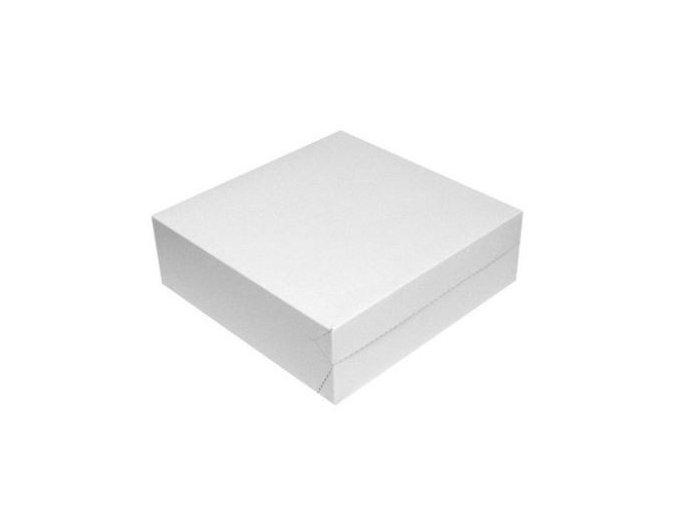 dortová krabice bílá