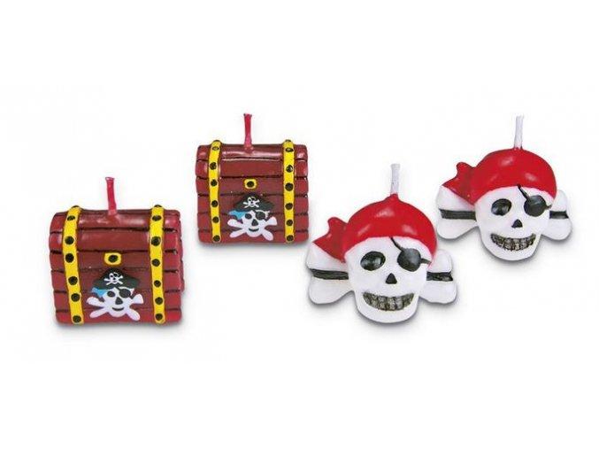 svíčky piráti a truhly