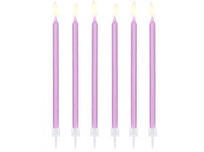 svíčky dlouhé fialové