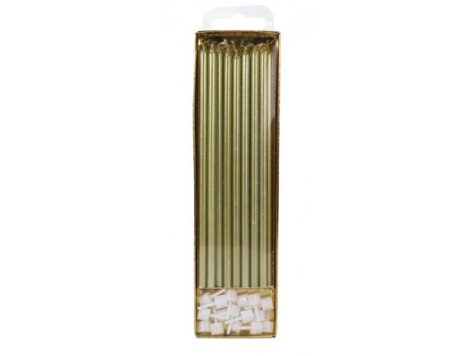 svíčky dlouhé zlaté