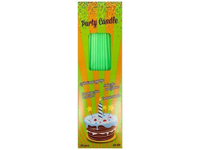 svíčky tenké dl. zelené