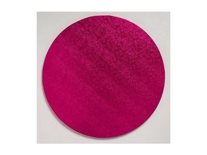 podložka pevná tmavě růžová kruh