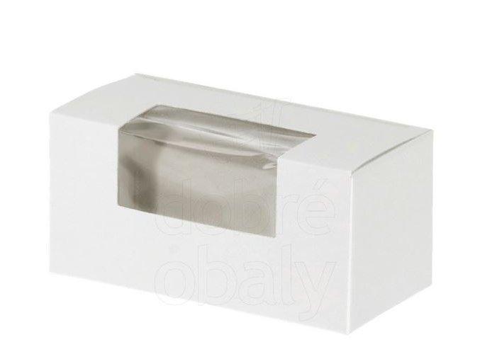 krabička na makronky malá bílá