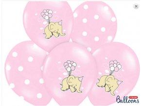 balonky růžové slon