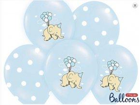 balonky modré slon