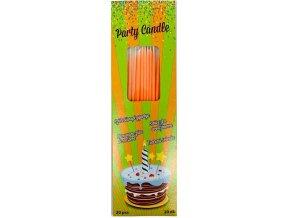 svíčky dlouhé tenké oranž