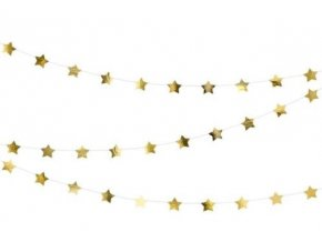 girlanda hvězdičky zlaté