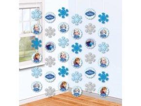 záv dekorace ledové král