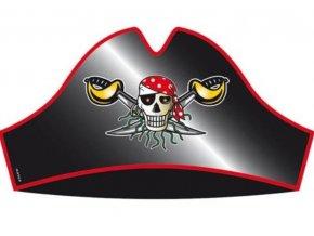 party čepičky red pirate